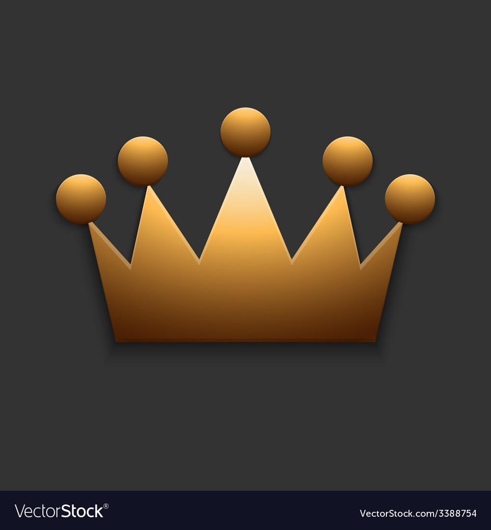 Modern golden crown on gray vector | Price: 1 Credit (USD $1)