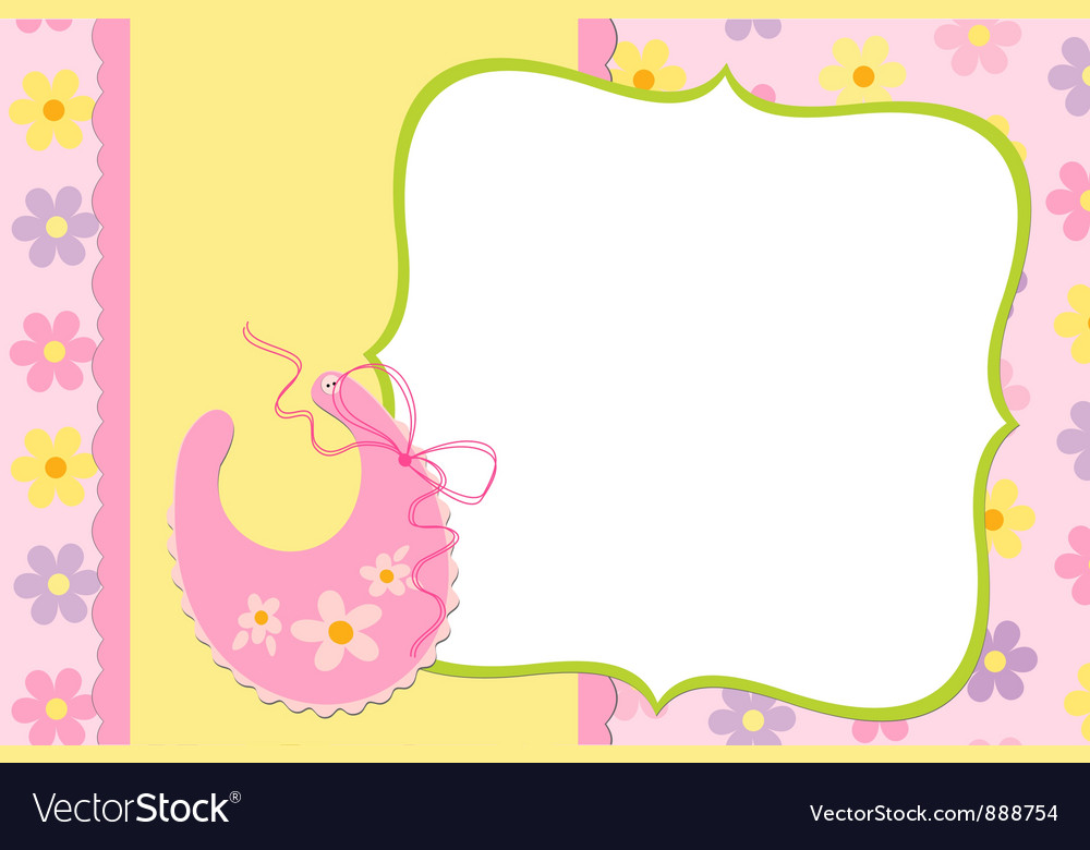 Template for babys photo album vector | Price: 1 Credit (USD $1)