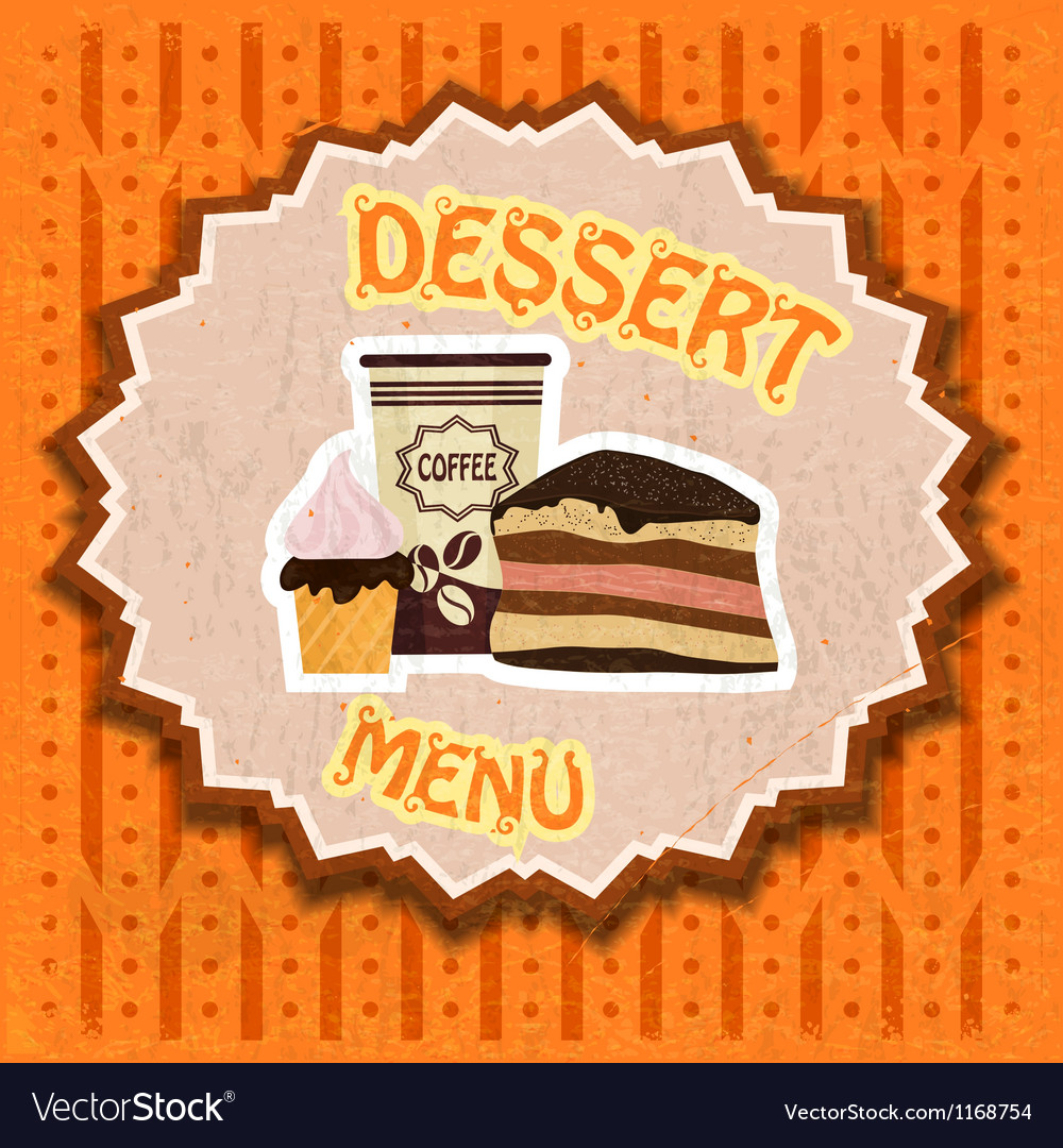 Vintage dessert menu vector | Price: 1 Credit (USD $1)