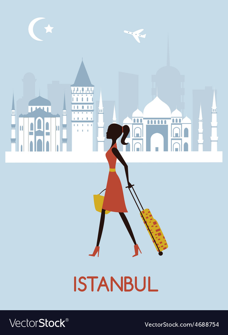 Woman in istanbul vector | Price: 1 Credit (USD $1)