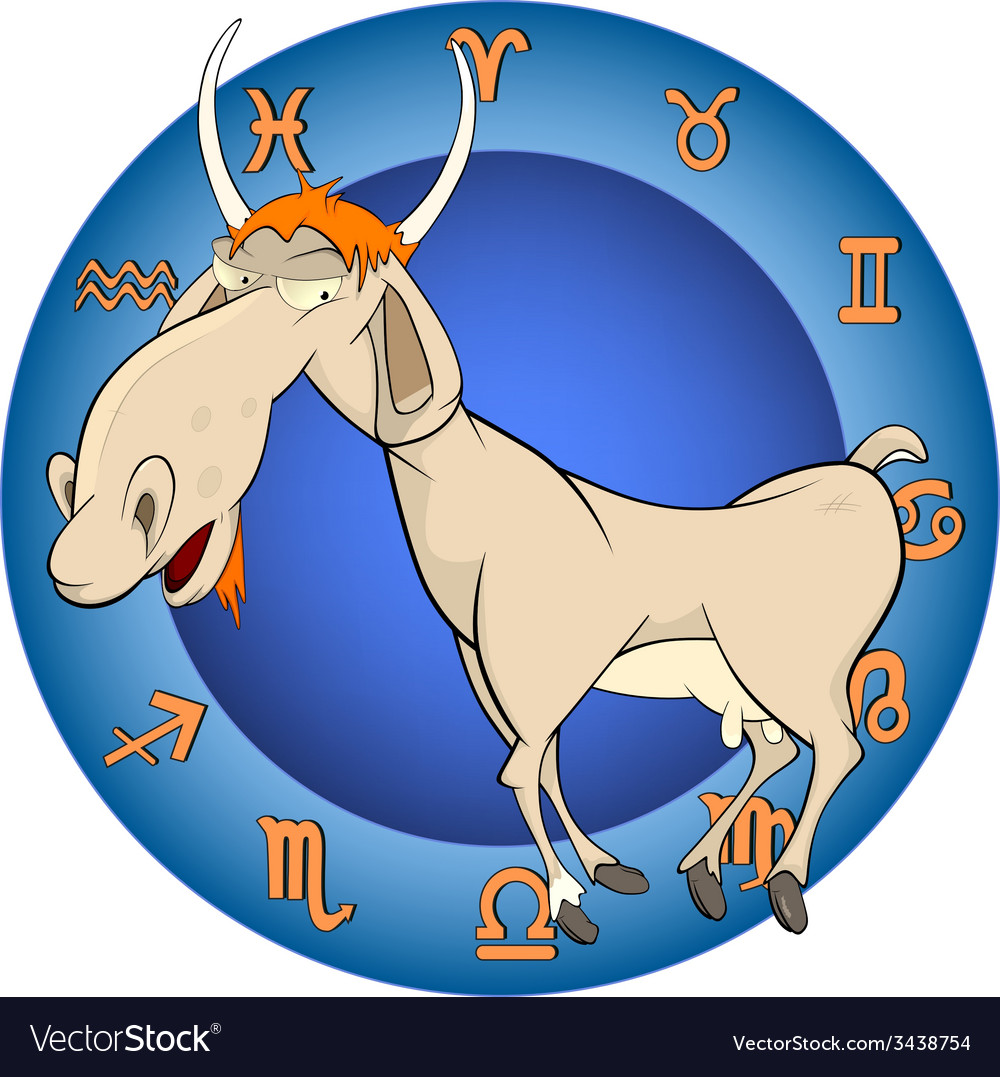 The year of the goat horoscope cartoon vector | Price: 1 Credit (USD $1)