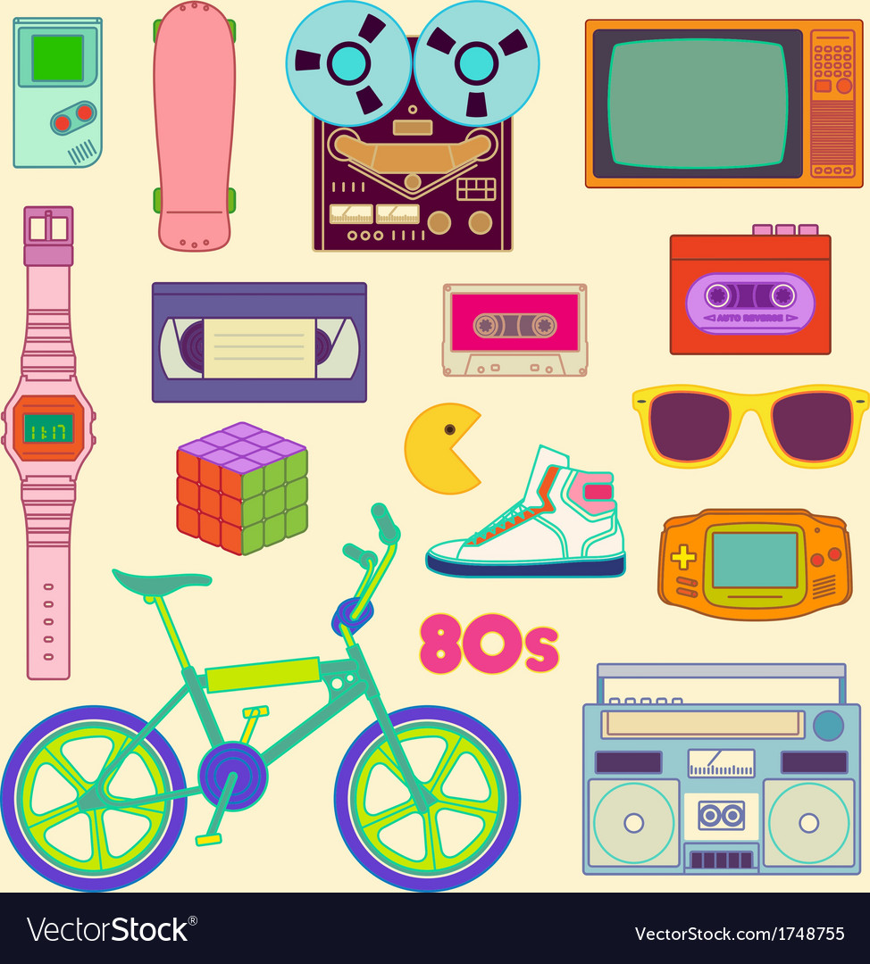 80s retro vector | Price: 1 Credit (USD $1)