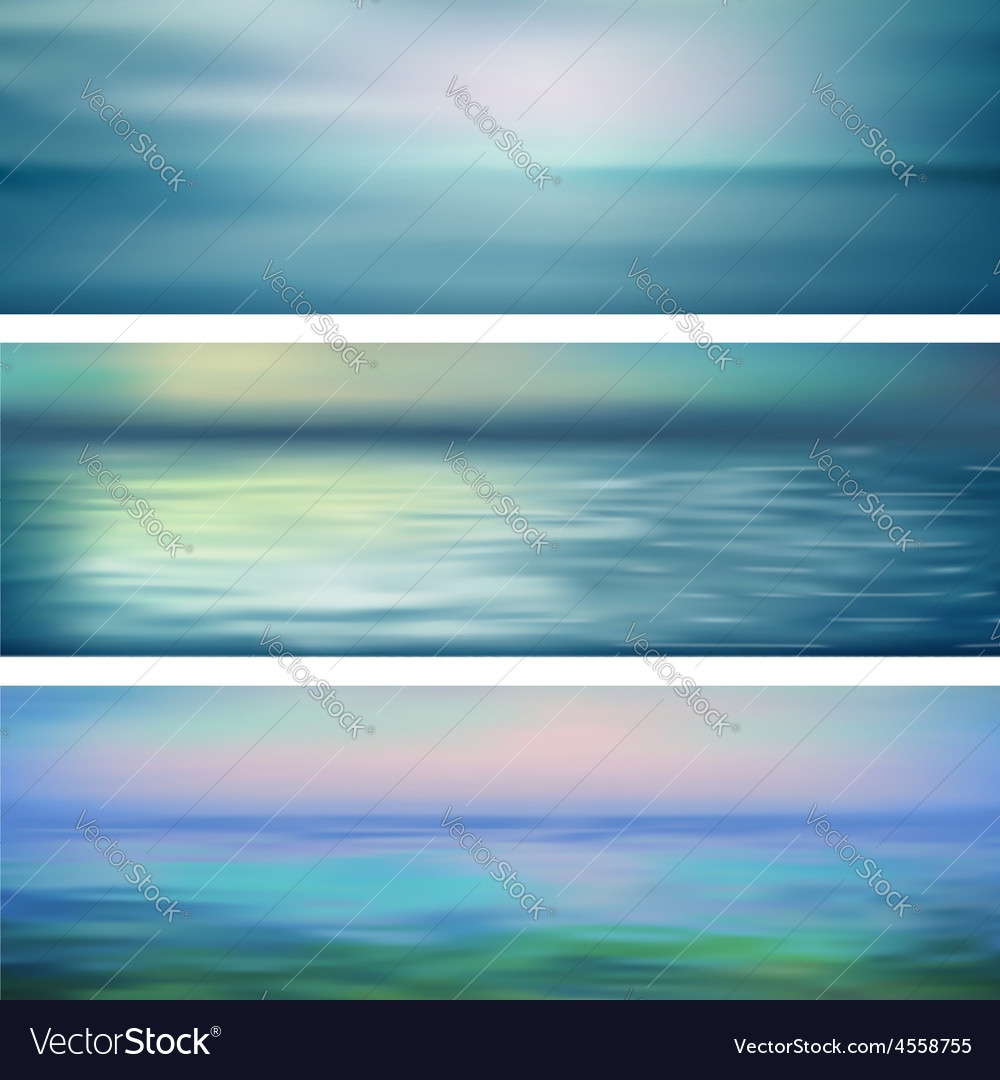 Abstract water banners vector | Price: 1 Credit (USD $1)