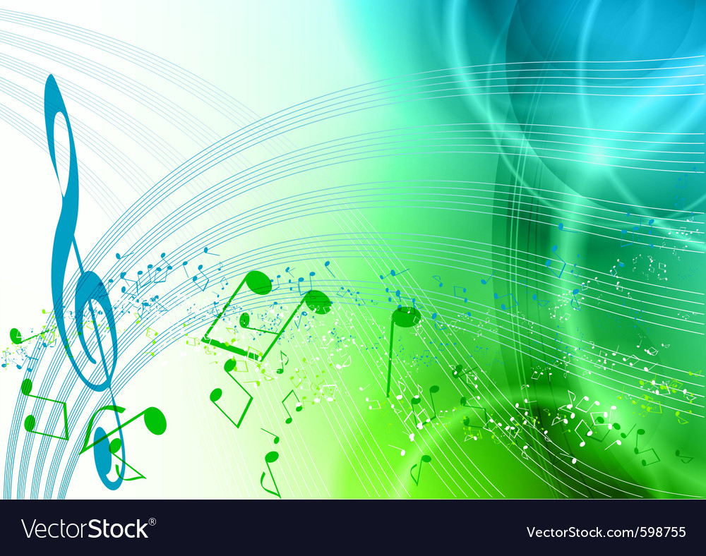 Blue and green music vector | Price: 1 Credit (USD $1)