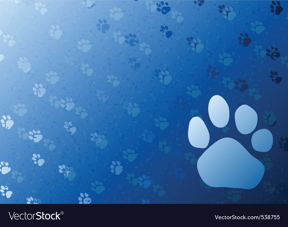 blue background with foot trail vector | Price: 1 Credit (USD $1)