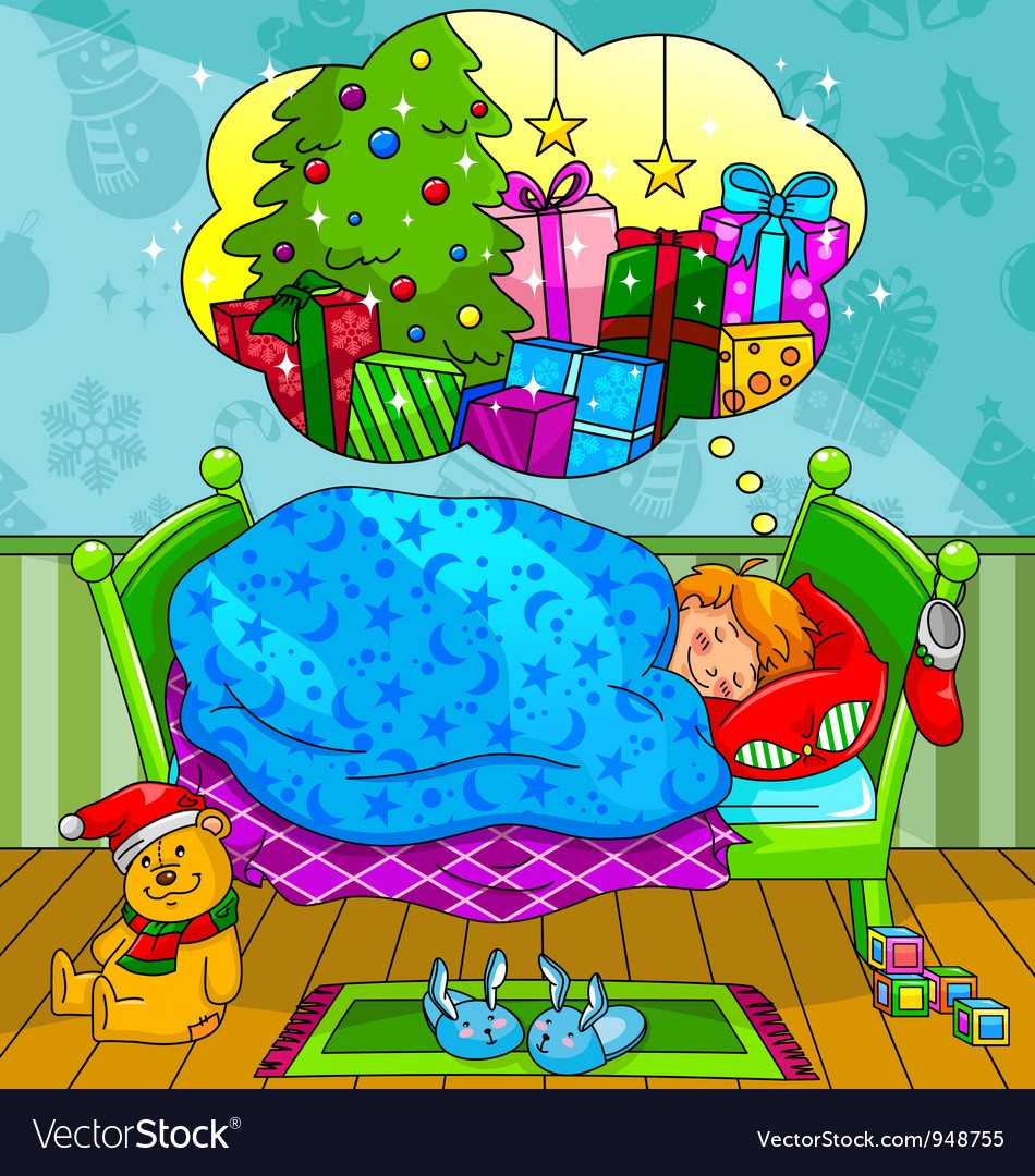 Christmas dreams vector | Price: 5 Credit (USD $5)