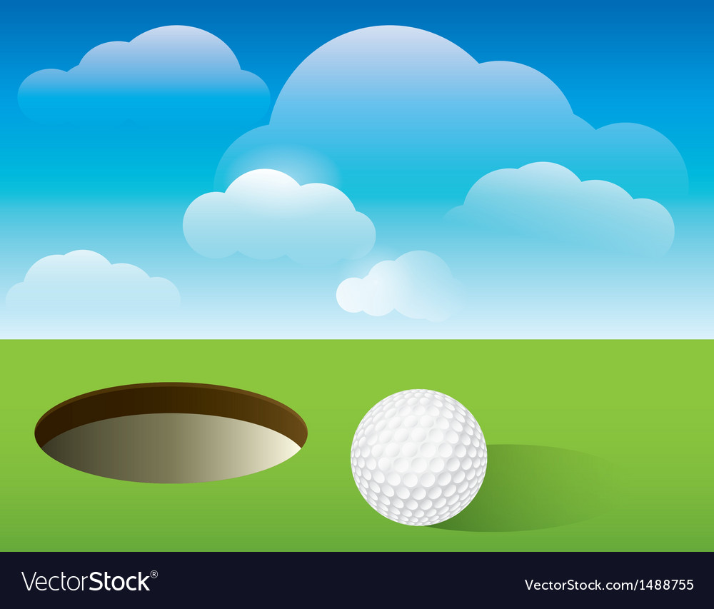 Golf putting green background vector | Price: 1 Credit (USD $1)