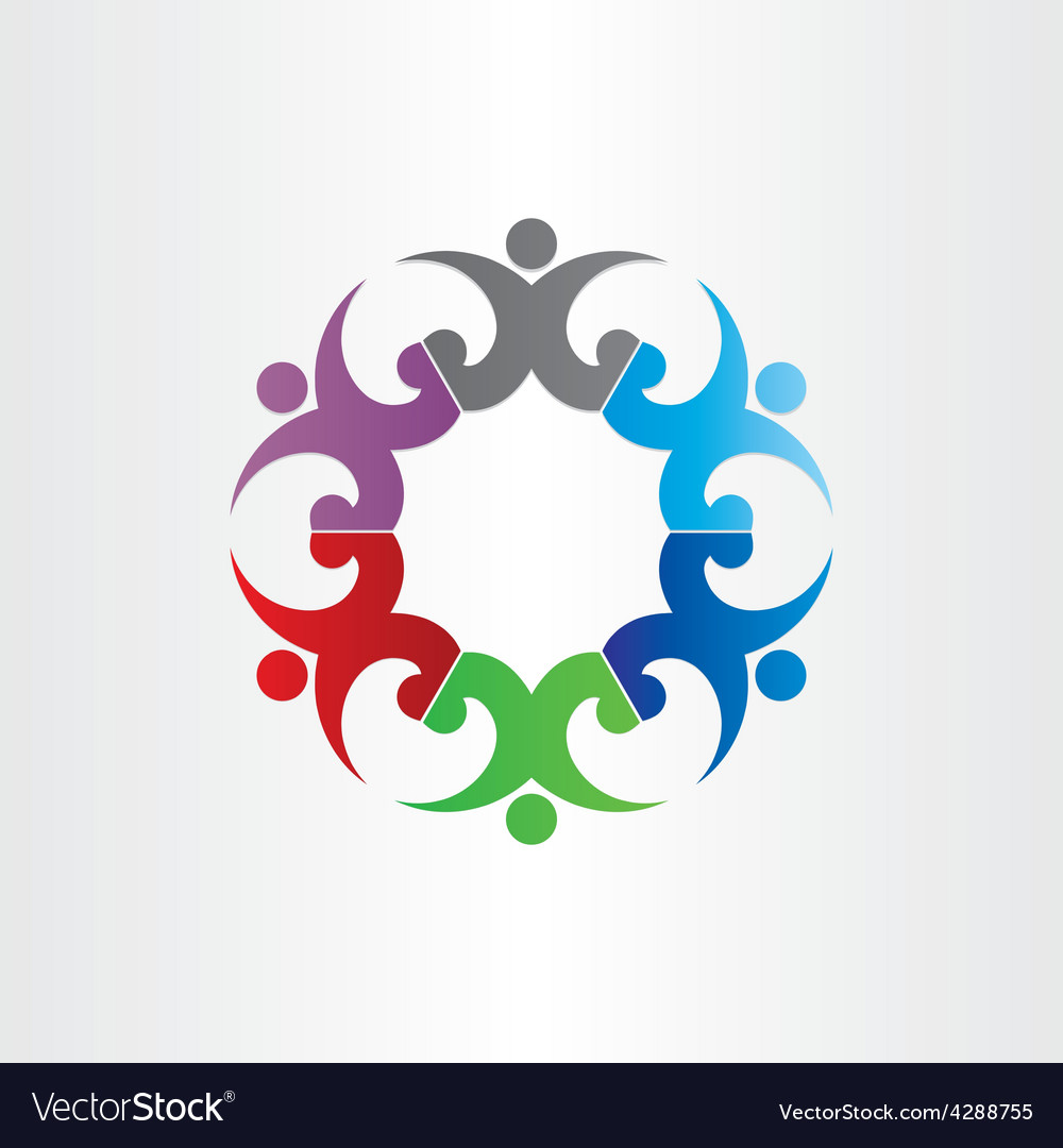 Group of people in circle party celebrating vector | Price: 1 Credit (USD $1)