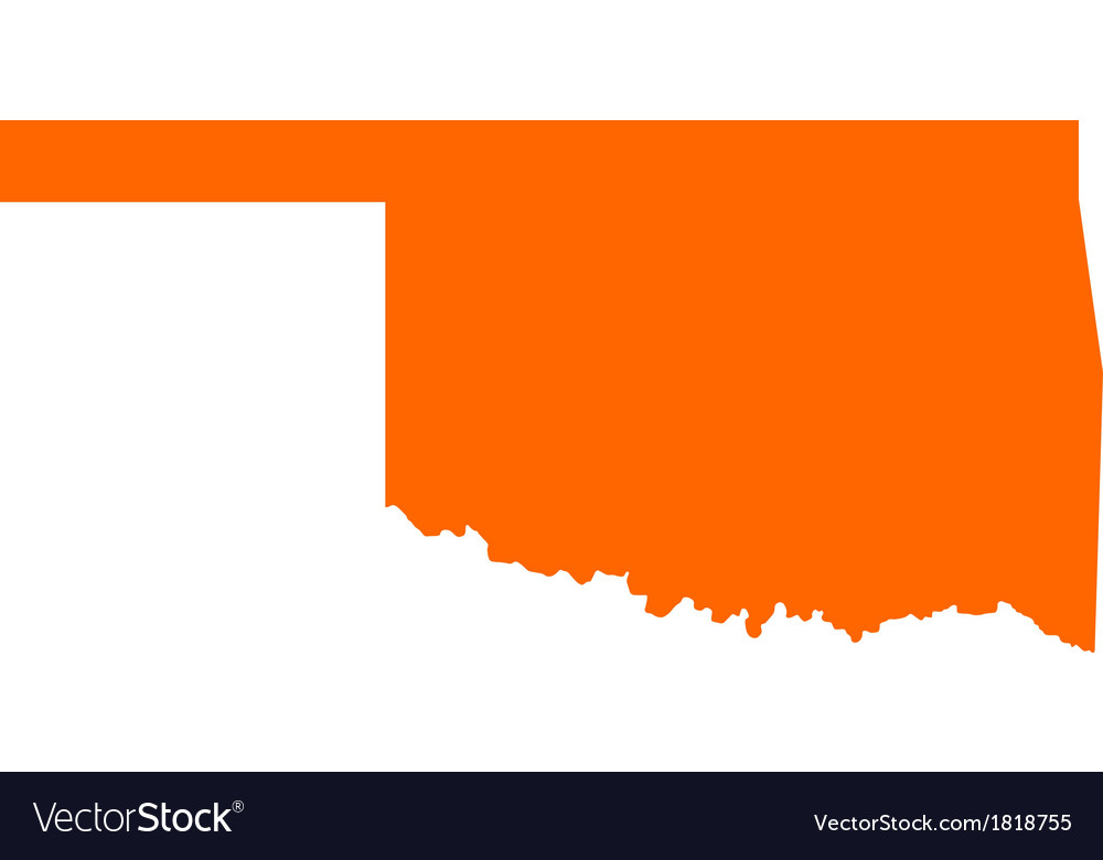 Map of oklahoma vector | Price: 1 Credit (USD $1)