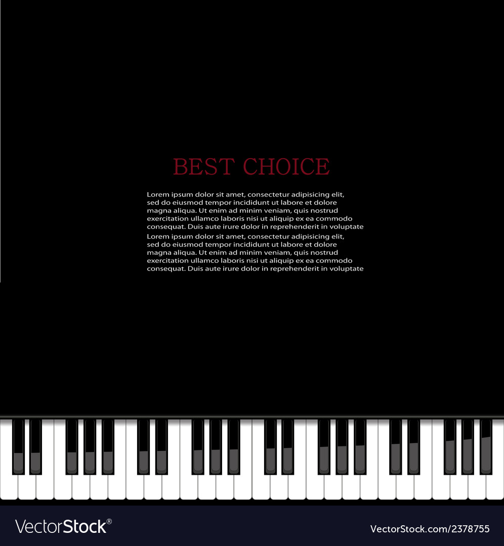 Modern piano background vector | Price: 1 Credit (USD $1)