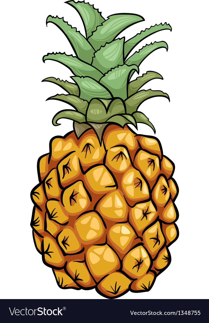 Pineapple fruit cartoon vector | Price: 1 Credit (USD $1)