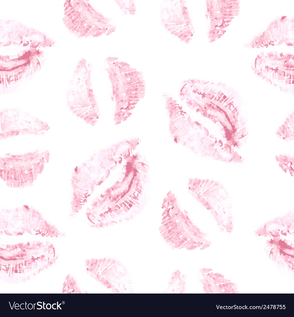 Seamless background lips prints vector | Price: 1 Credit (USD $1)