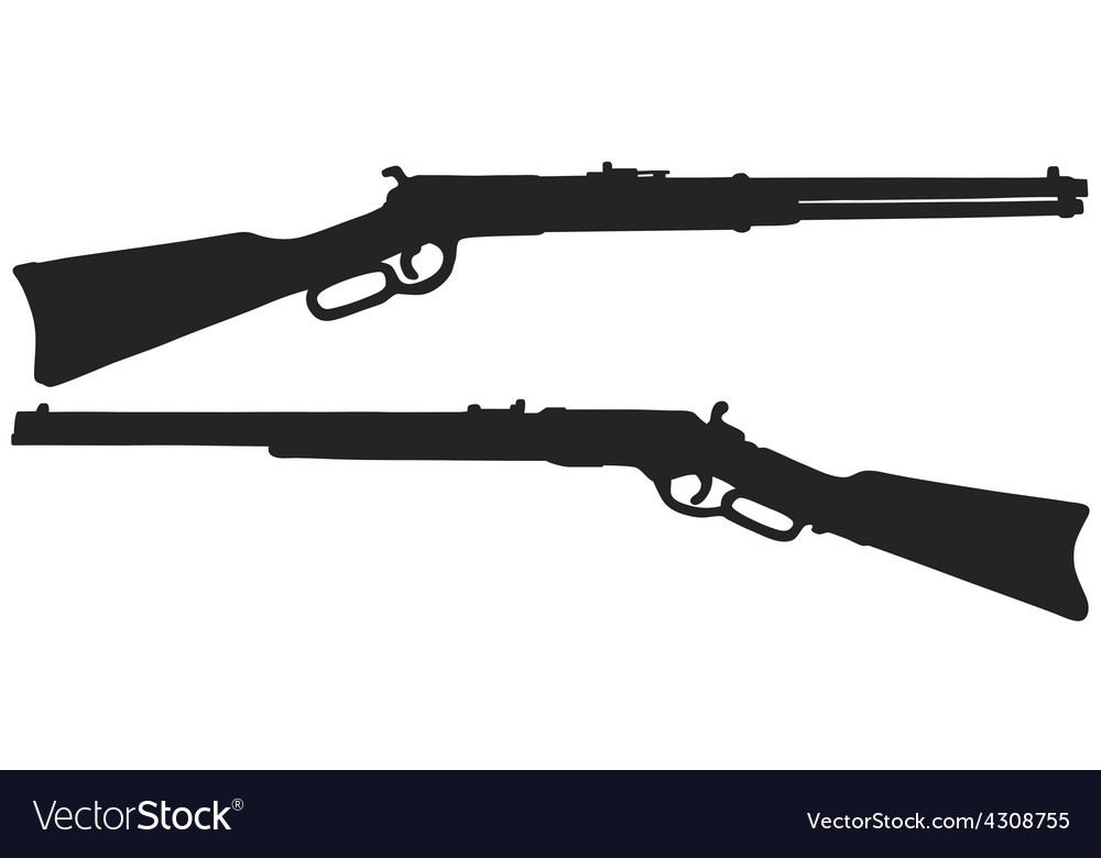 Two old american rifles vector | Price: 1 Credit (USD $1)