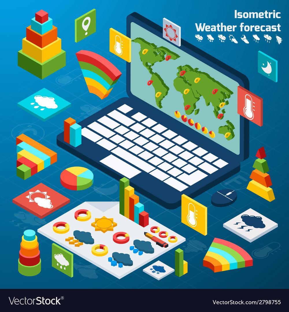 Weather isometric icons vector   Price: 1 Credit (USD $1)