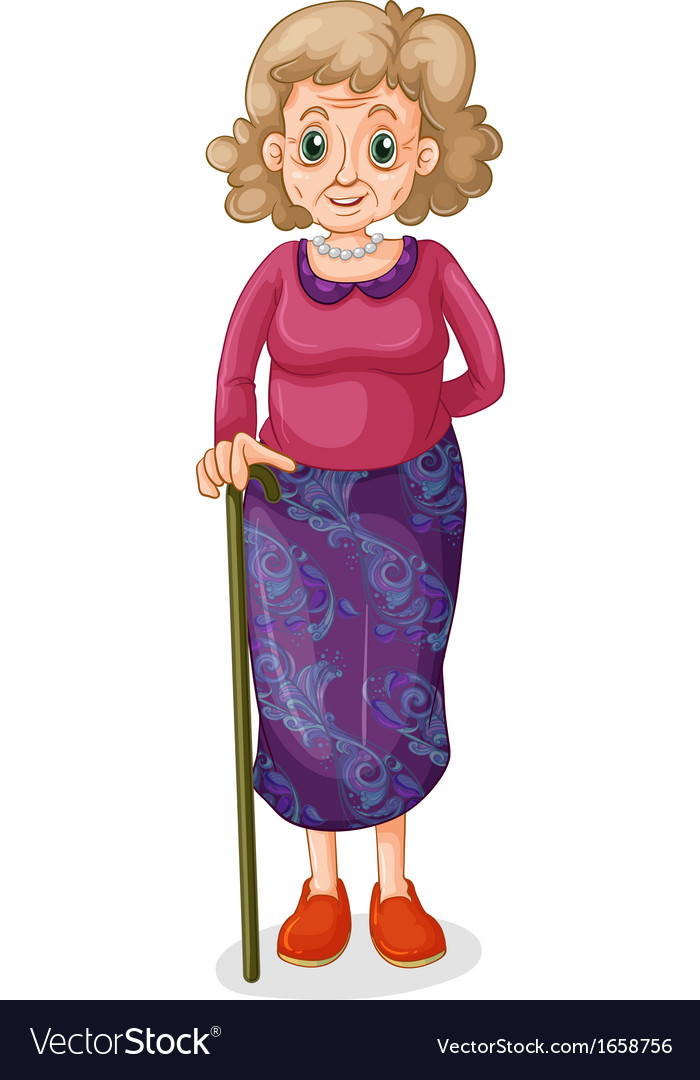 A beautiful grandmother vector | Price: 3 Credit (USD $3)