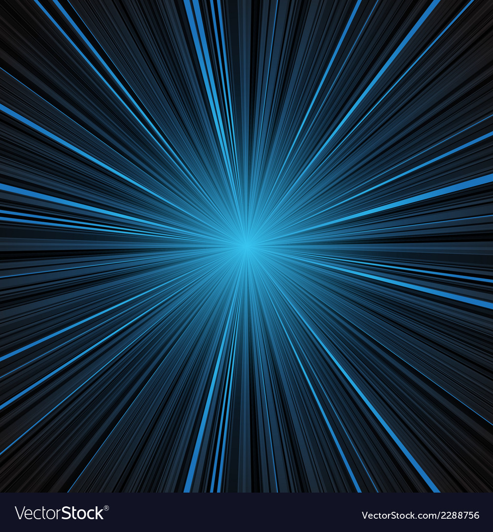 Abstract blue stripes burst background vector | Price: 1 Credit (USD $1)