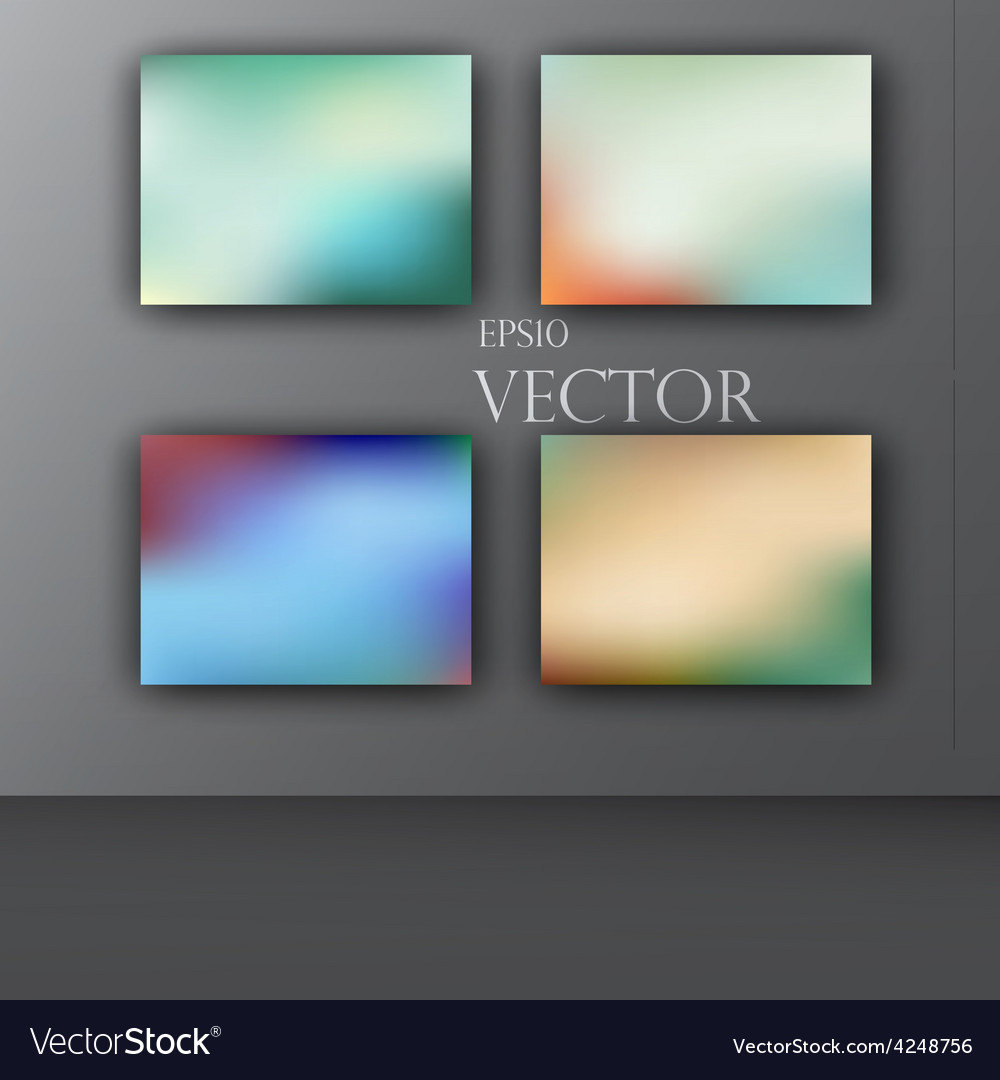 Abstract colorful smooth blurred vector | Price: 1 Credit (USD $1)