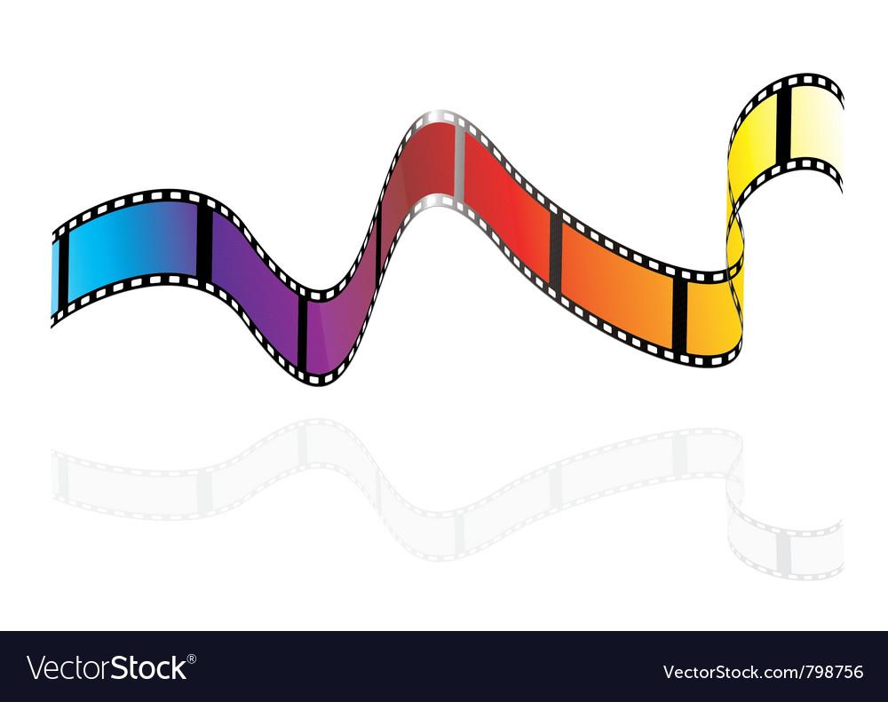 Brightly colours camera film vector | Price: 1 Credit (USD $1)