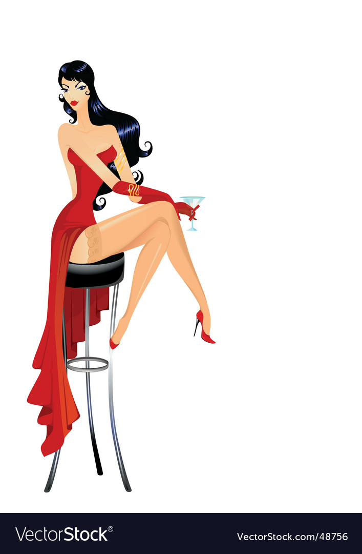 Burlesque girl vector | Price: 1 Credit (USD $1)