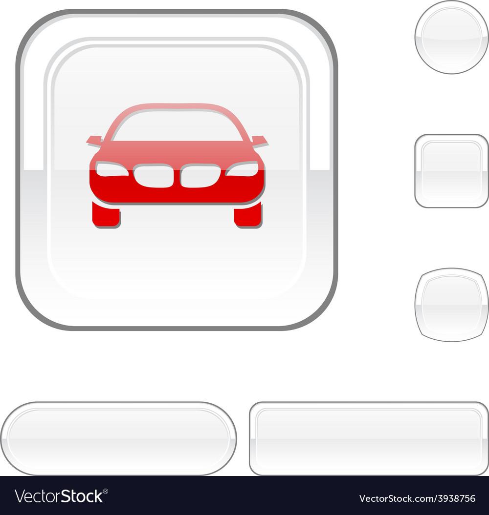 Car white button vector | Price: 1 Credit (USD $1)
