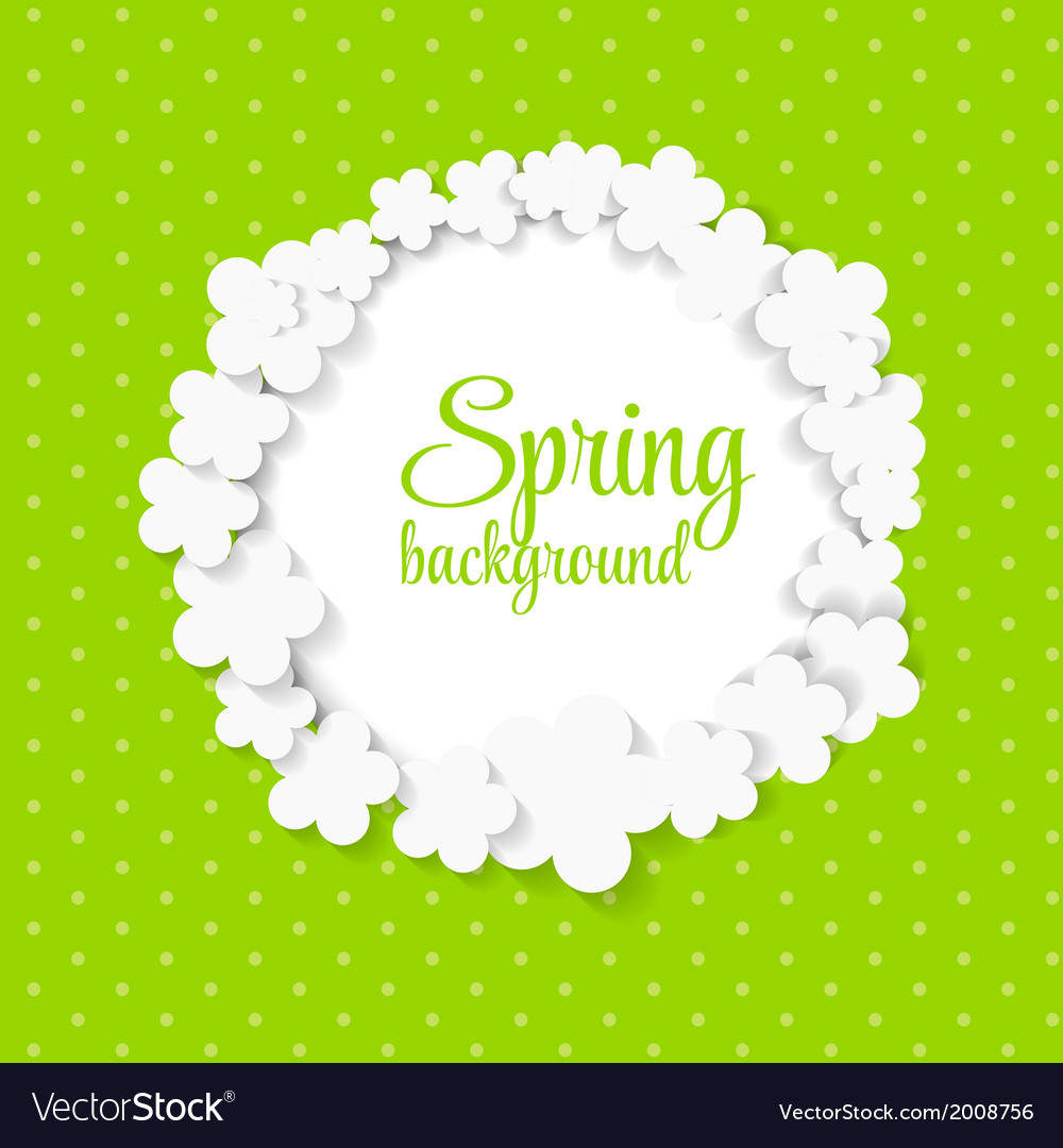 Cute spring background with paper flowers vector | Price: 1 Credit (USD $1)