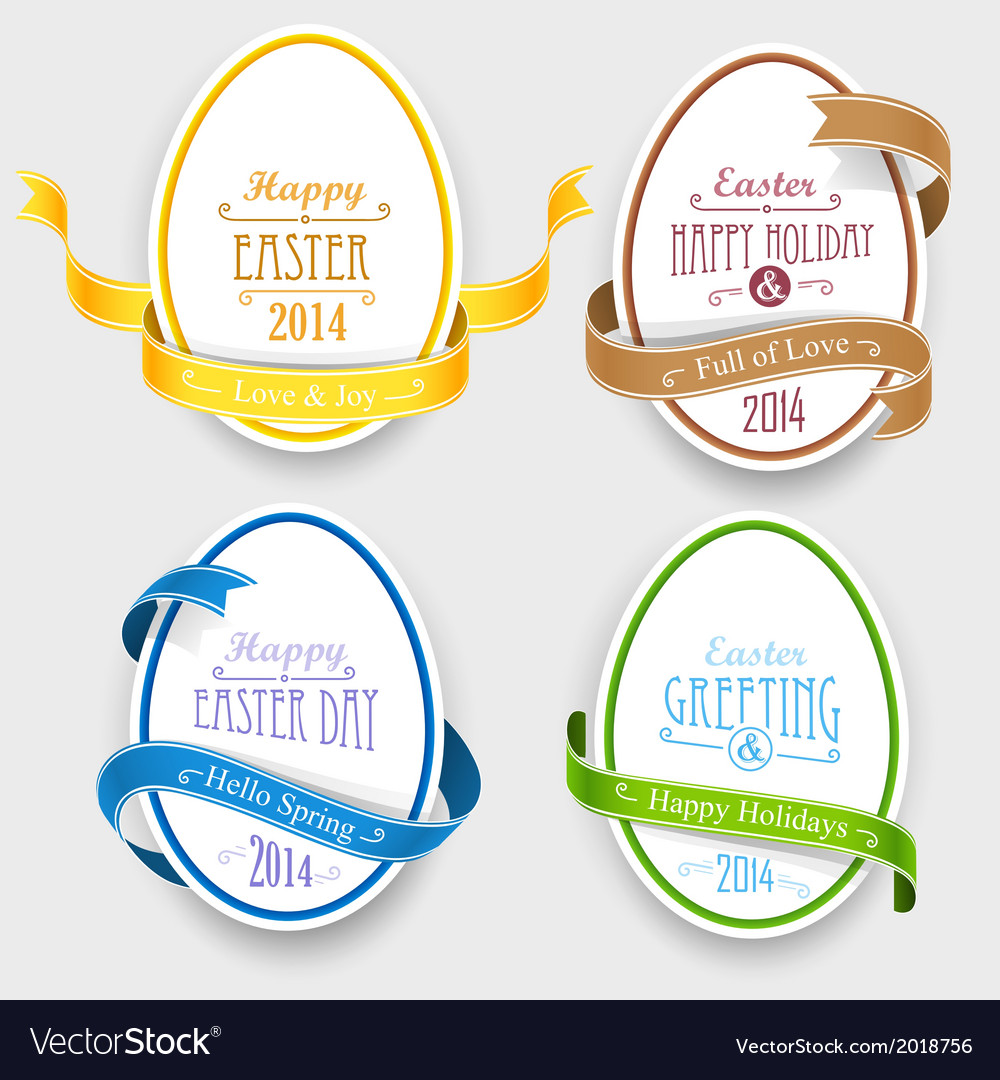 Easter emblems vector | Price: 1 Credit (USD $1)