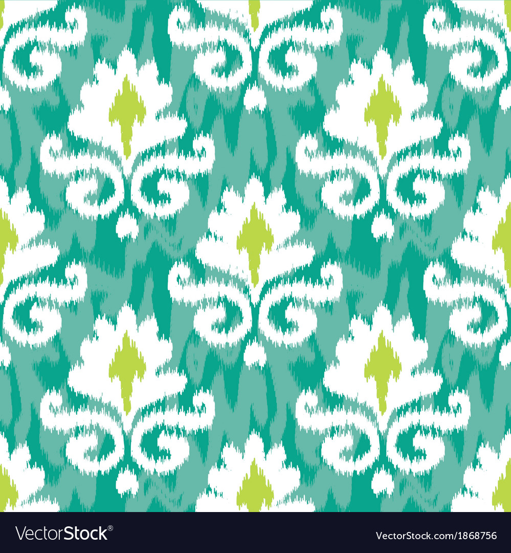 Emerald ikat damask vector | Price: 1 Credit (USD $1)