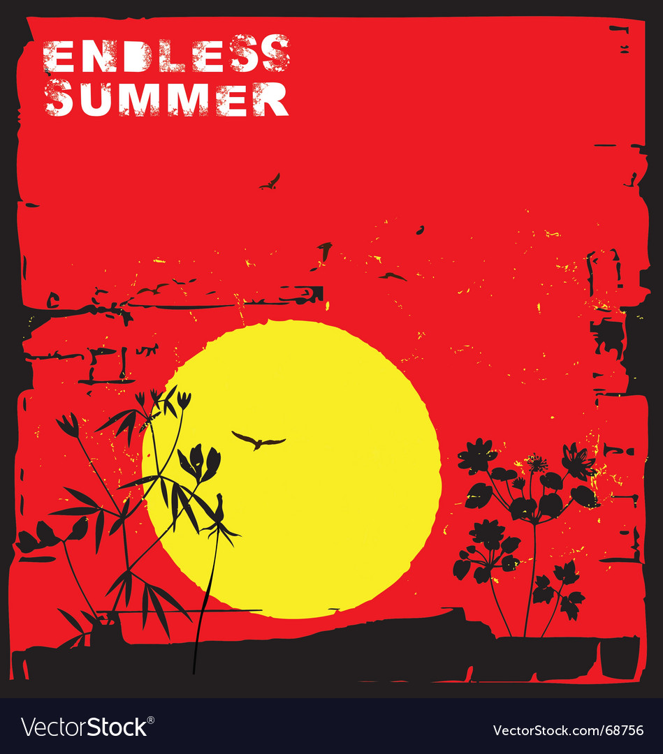Endless summer vector | Price: 1 Credit (USD $1)