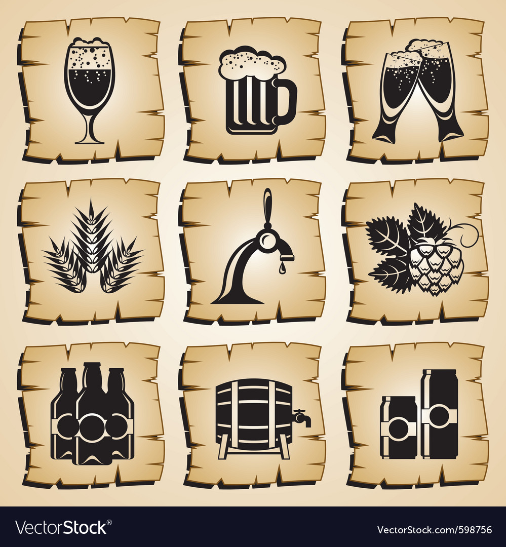 Icons beer vector | Price: 1 Credit (USD $1)