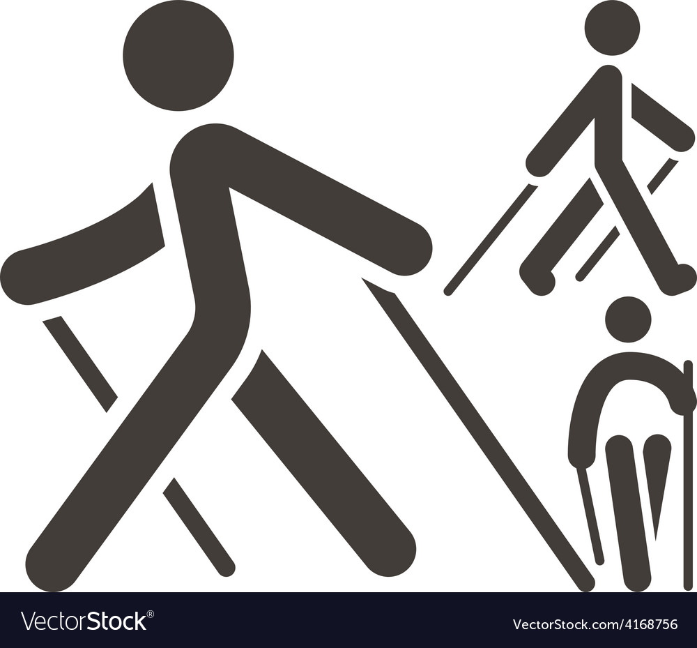 Nordic walking icons vector | Price: 1 Credit (USD $1)