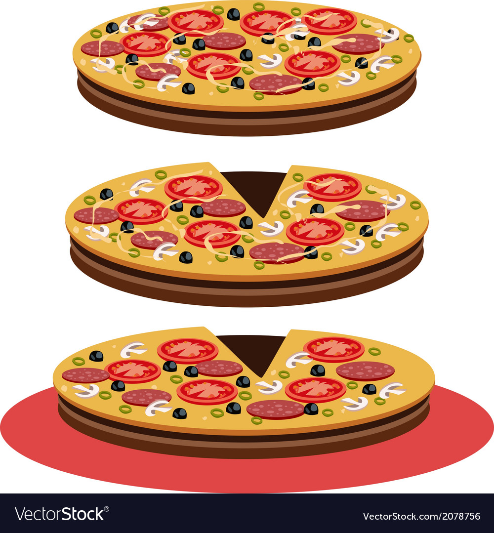 Pizza - vector | Price: 1 Credit (USD $1)