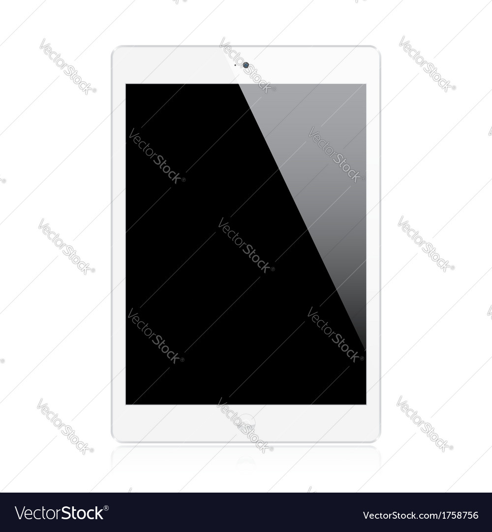 Realistic tablet vector | Price: 1 Credit (USD $1)