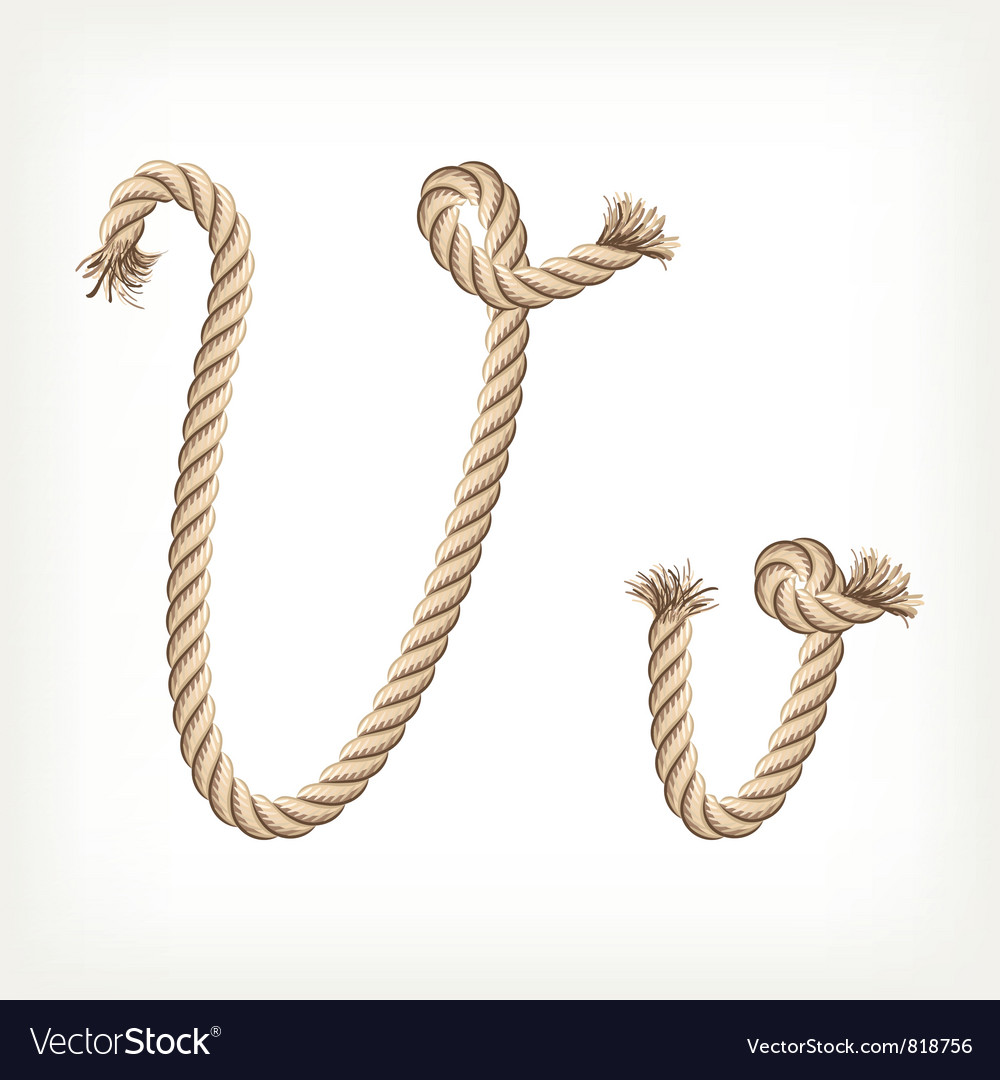 Rope alphabet letter v vector | Price: 1 Credit (USD $1)