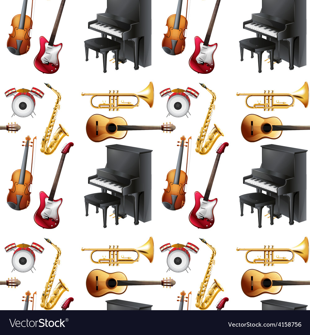 Seamless musical vector | Price: 3 Credit (USD $3)