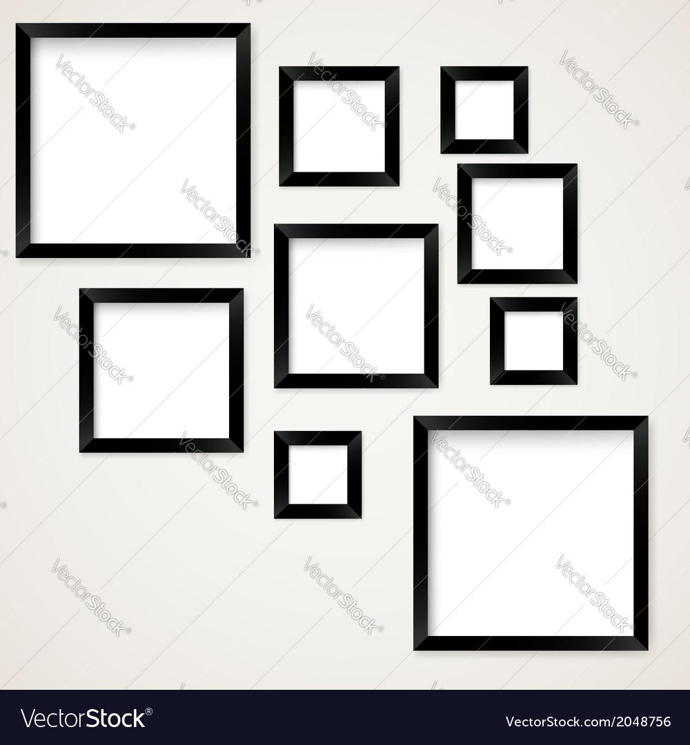 Set of vintage picture frames hanging vector | Price: 1 Credit (USD $1)