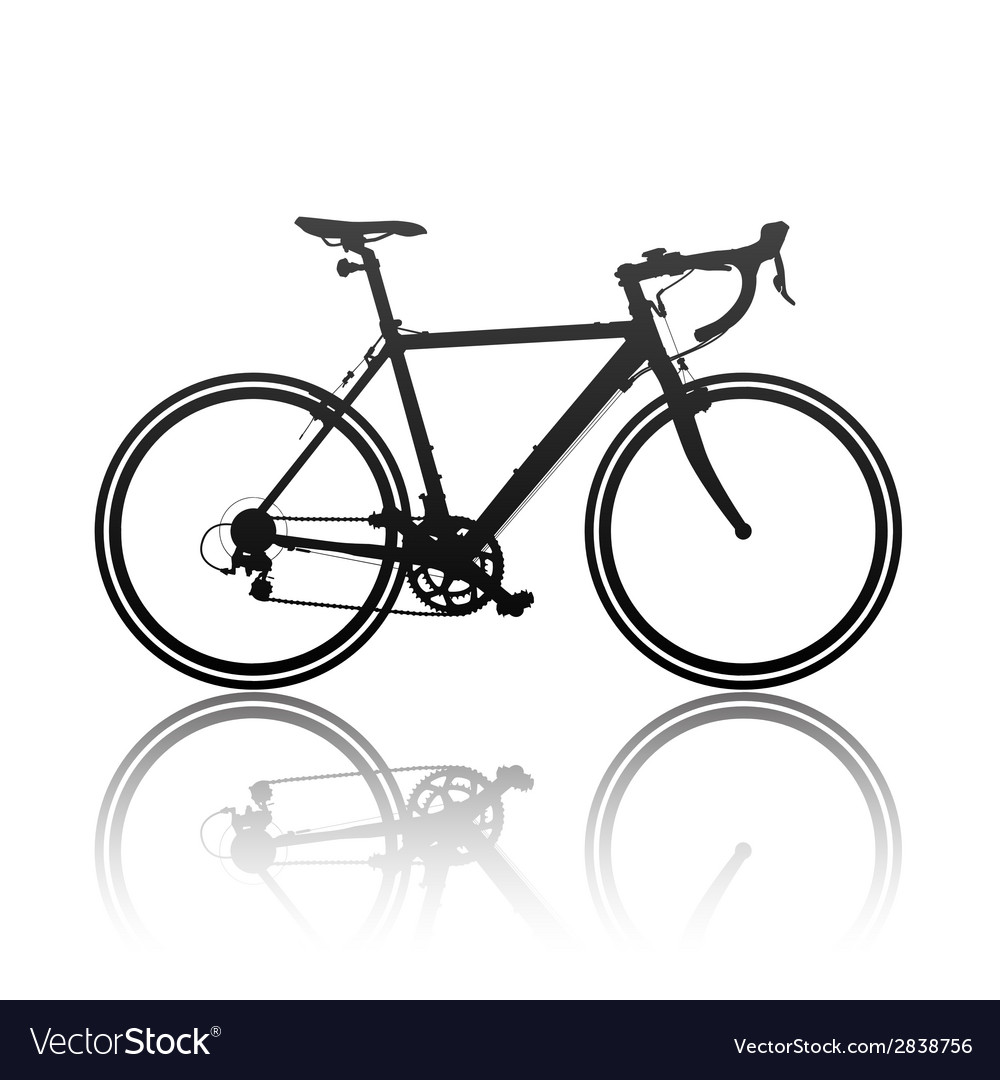 Silhouette of sports bicycle vector | Price: 1 Credit (USD $1)
