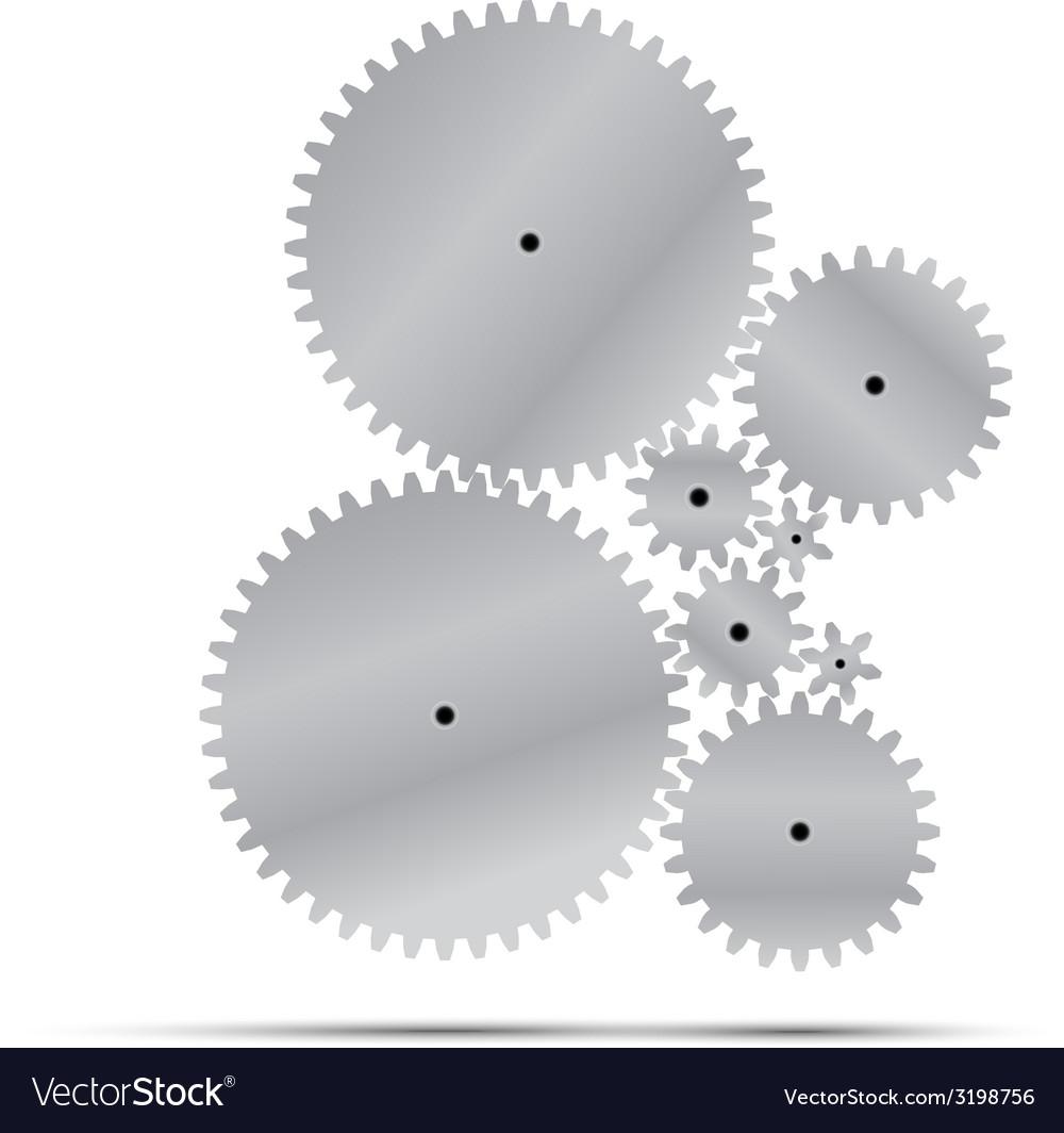 Silver gear and cogwheel vector | Price: 1 Credit (USD $1)