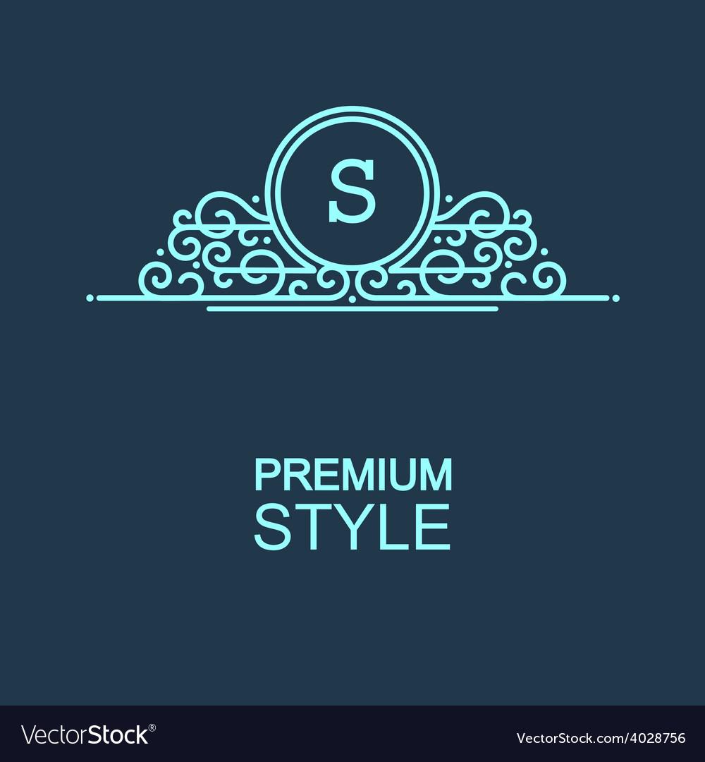 Stylish graceful monogram vector | Price: 1 Credit (USD $1)