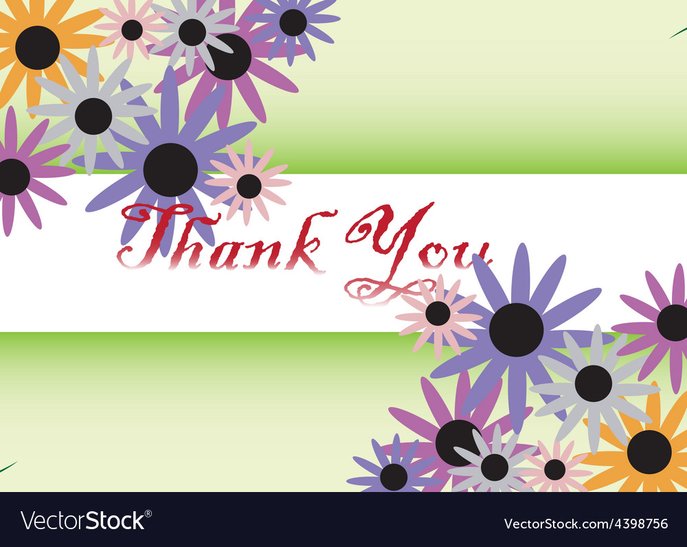 Thank you card background vector | Price: 3 Credit (USD $3)