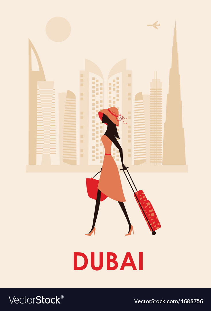 Woman in dubai vector | Price: 1 Credit (USD $1)