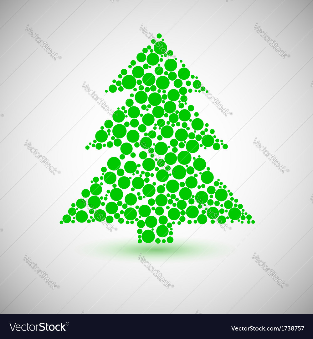 Christmas tree icon made of circles vector | Price: 1 Credit (USD $1)