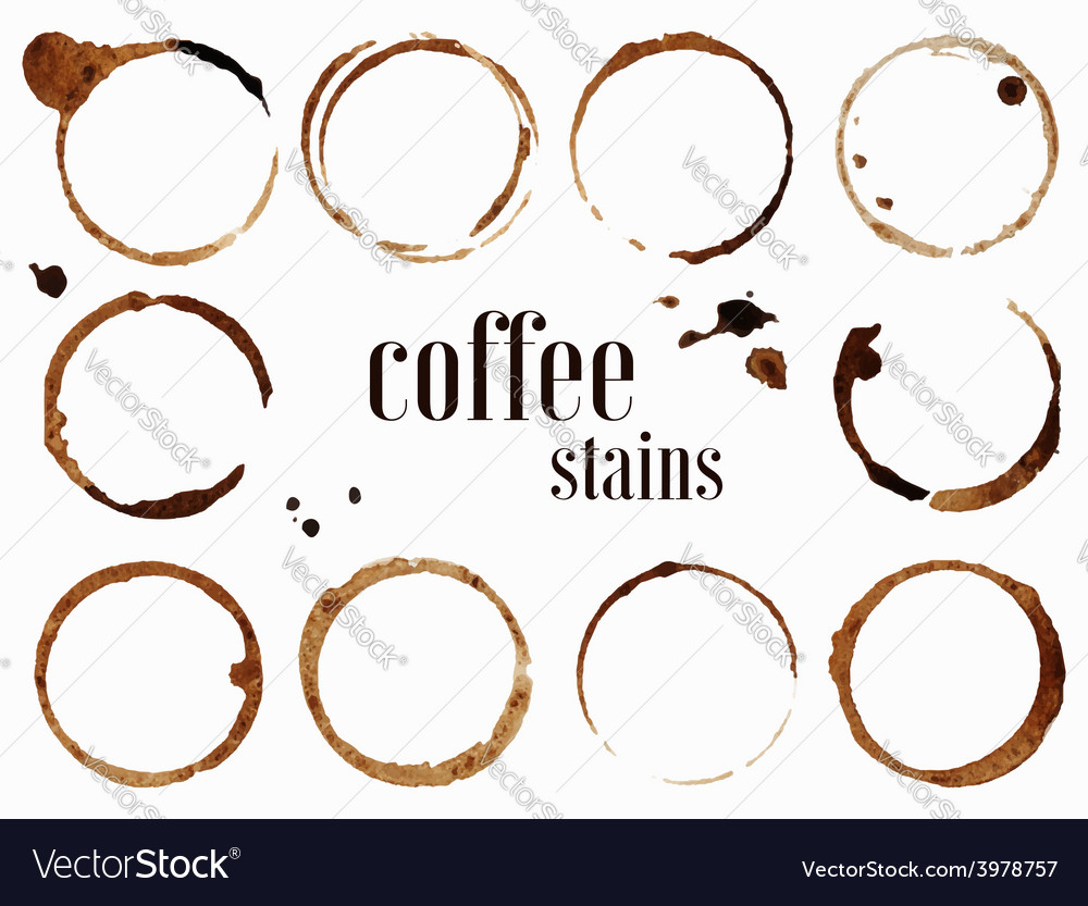 Coffee stains isolated vector | Price: 1 Credit (USD $1)