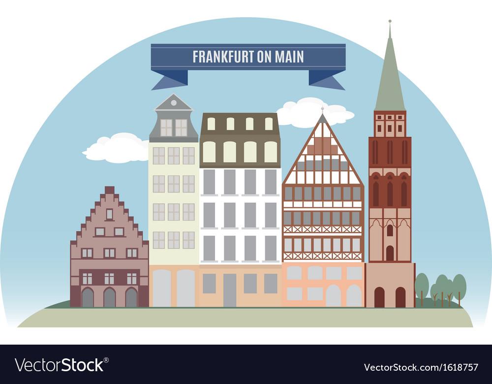 Frankfurt vector | Price: 1 Credit (USD $1)