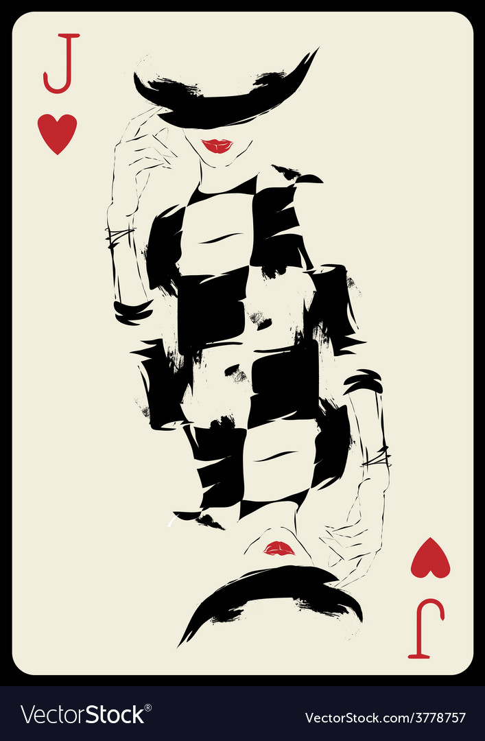 The girl in retro style playing card vector | Price: 1 Credit (USD $1)