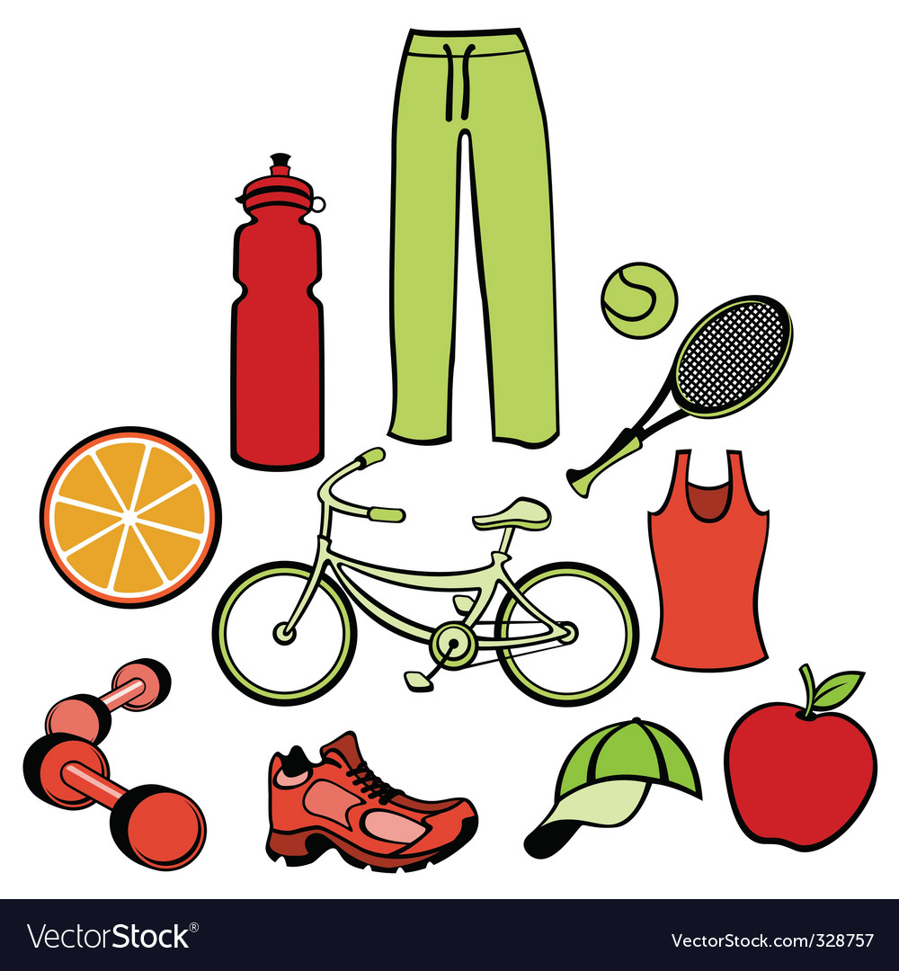 Healthy life style vector | Price: 1 Credit (USD $1)