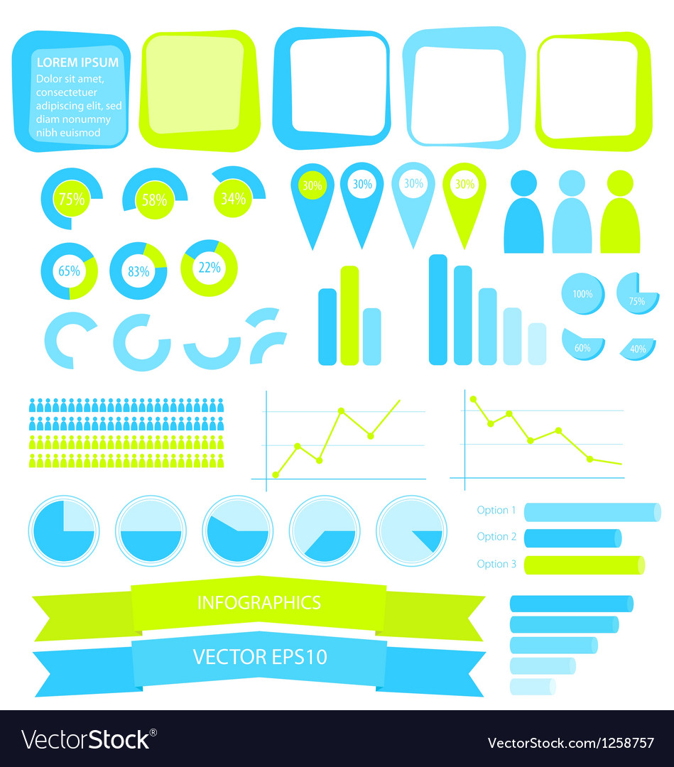 Infographics elements vector | Price: 1 Credit (USD $1)
