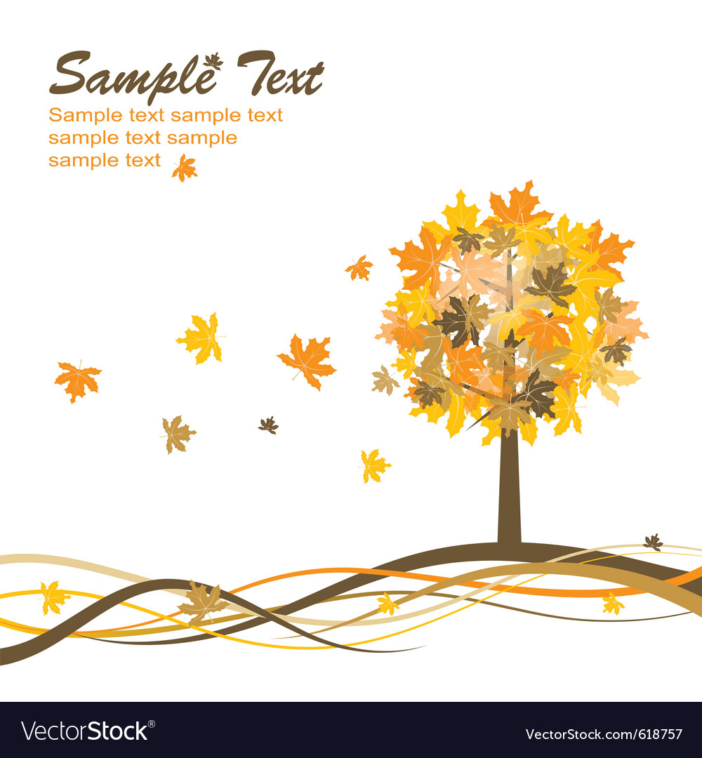 Maple autumn background eps10 vector | Price: 1 Credit (USD $1)
