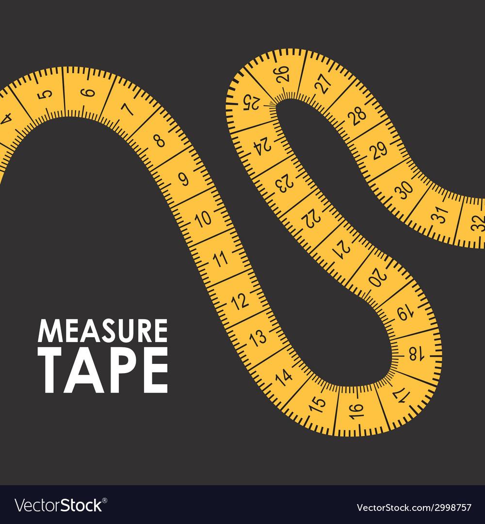 Measure tape design vector | Price: 1 Credit (USD $1)