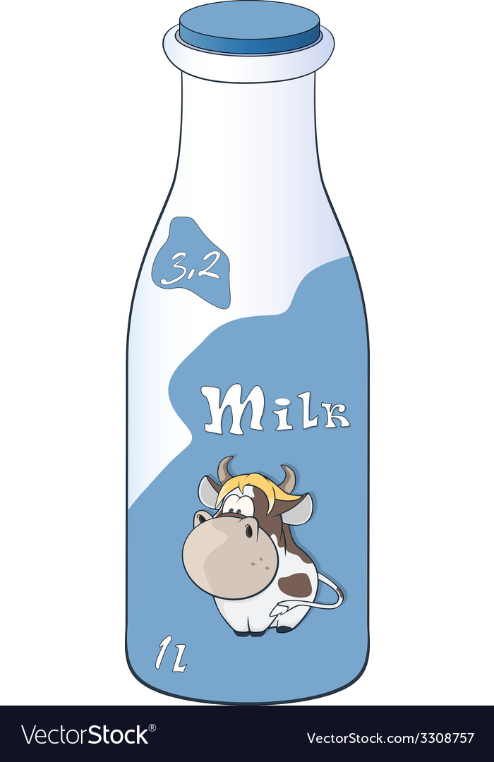 Milk bottle vector | Price: 1 Credit (USD $1)