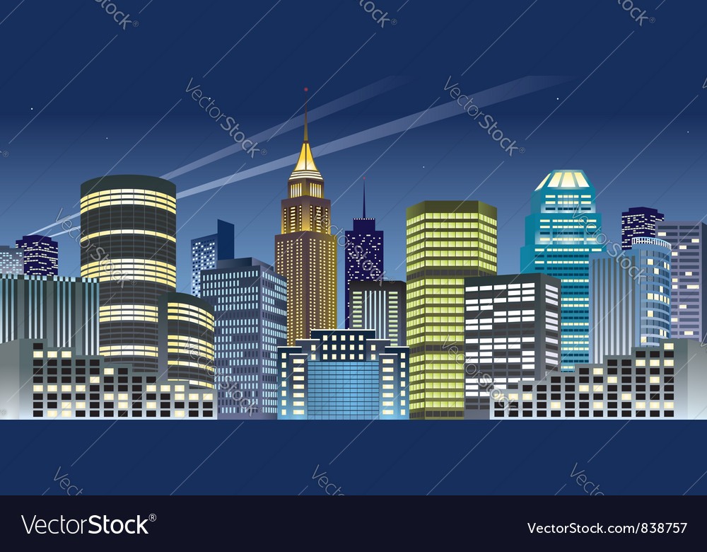 Nght city vector | Price: 3 Credit (USD $3)